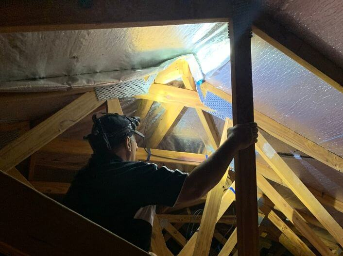 Brisbane To Bay Building Inspections Gallery Roof and Ceiling Inspections Image using Flashlight